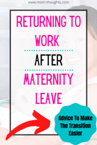 Returning to work after maternity leave | going back to work after baby | going back to work after baby depression | gifts for moms returning to work after maternity leave