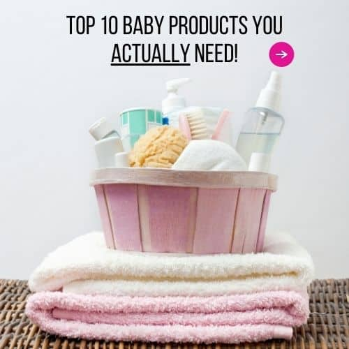 baby products you actually need for a newborn