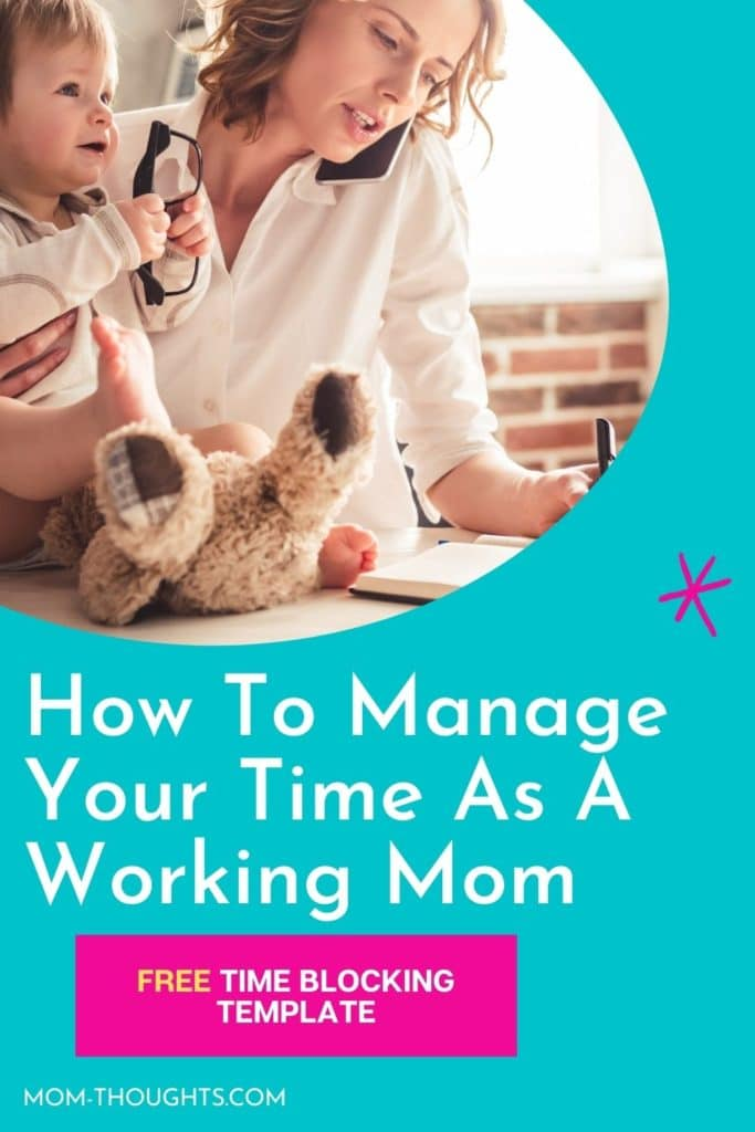 These time management tips for working moms are so helpful and includes a free time blocking template for busy moms!