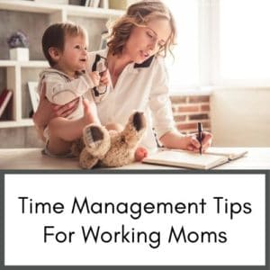 These time management tips for working moms includes a free time blocking template to help busy moms manage time