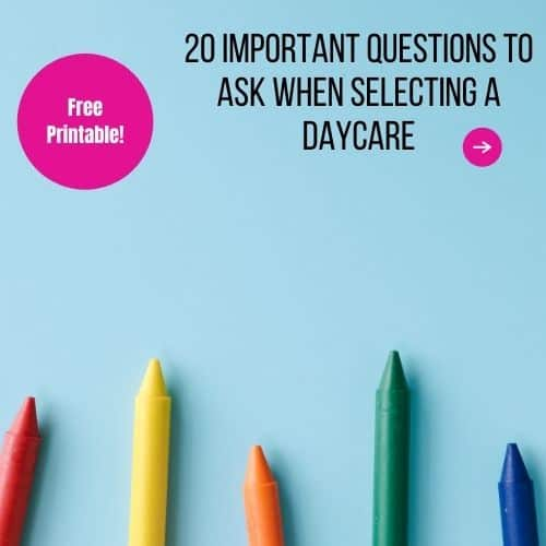 important questions to ask a daycare