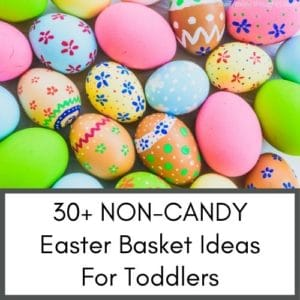 Non Candy Easter Basket Ideas For Toddlers. This post is on a page that has a compilation of amazing newborn tips and toddler tips for new moms