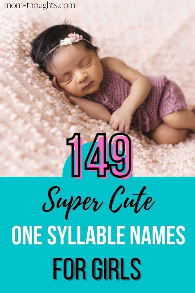 Check out this list of super cute one syllable girl names! Perfect for first or middle names for baby girls!