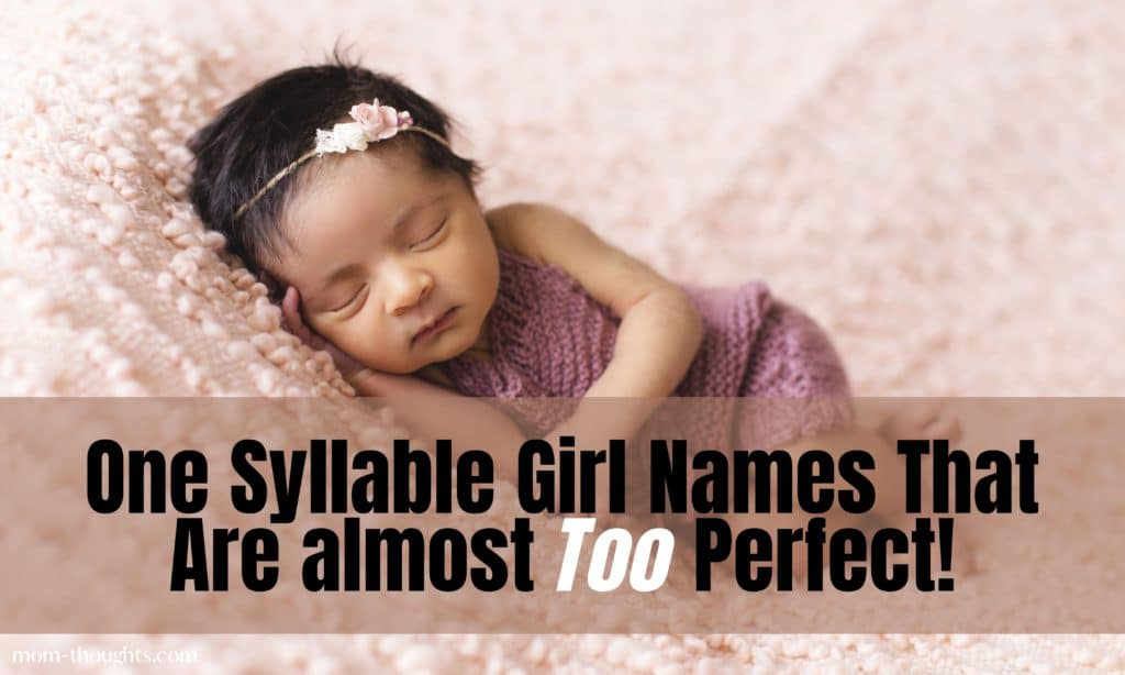 I LOVE These one syllable girl names! These baby names have special meanings and they would be great for first name or middle names!