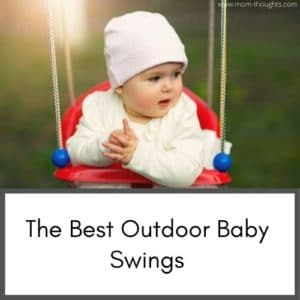 Outdoor baby swings. This site has great tips for new moms
